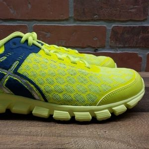 ASICS Neon Yellow & Blue Athletic Shoes